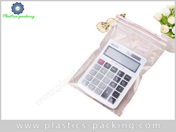 With Hang Hole PE Recloseable Pouch White Slider Zipper Bag PE Pouch 3