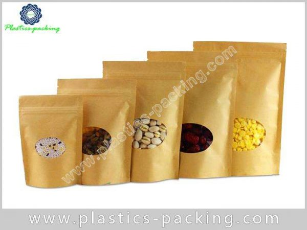 With Oval Window Kraft Paper Pouch Manufacturers an 001