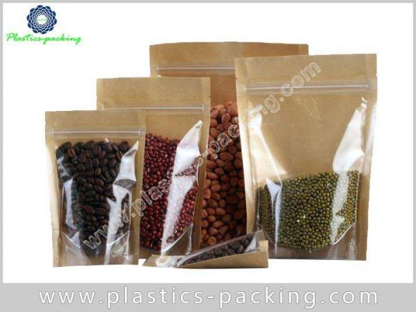 With Oval Window Kraft Paper Pouch Manufacturers an 008
