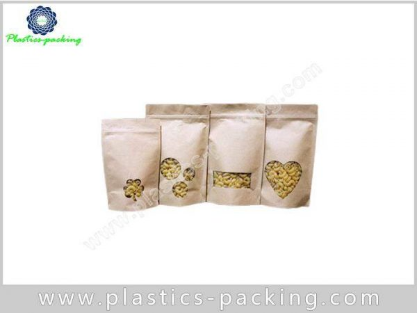with Oval Transparent Window Stand Up Kraft Paper y 017