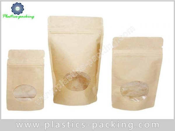 with Oval Transparent Window Stand Up Kraft Paper y 018