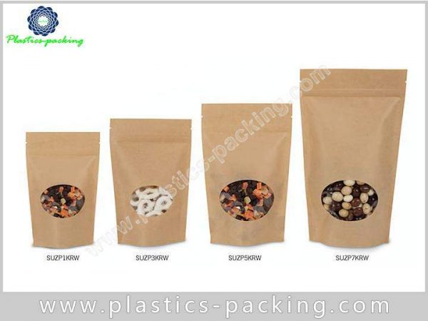 with Oval Transparent Window Stand Up Kraft Paper y 019