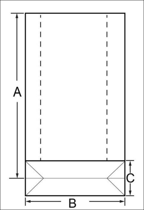Square Bottom Shape Block Bottom Shape bags Rectangular Shape Bags